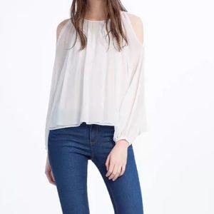 Zara white top small