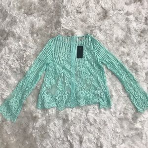 NWT Mint Lace Guess Top Size XS