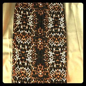 Leopard Midi Pencil Skirt