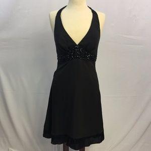 [WHBM] 6 Silk Embellished Jeweled Dress Halter