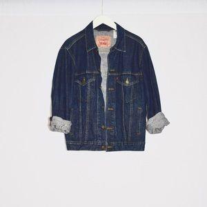 Vintage Levi's oversized dark denim jean jacket