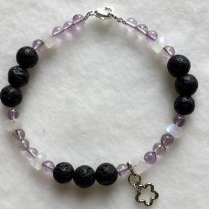 Jewelry - Gemstone & Lava Rock Oil Scent Diffuser with Charm
