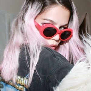 Accessories - Red Retro Oval Sunnies