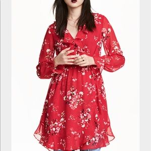 H&M Red Wrap Dress