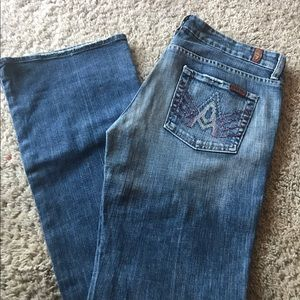 """7 for all mankind """"A Pocket"""" with bedazzle"""