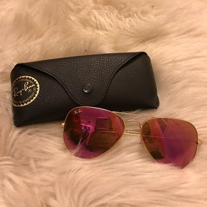 Pink and Gold Aviator Ray-Bans