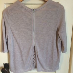American Eagle cropped top with 1/2 zipper back