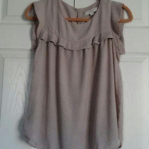 LOFT Tops - Flutter blouse