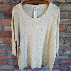 Gold Sequin Oversized Sweater