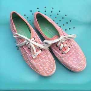 Dusty Pink Patterned Keds