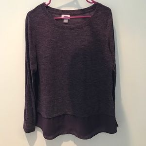 Purple layered sweater