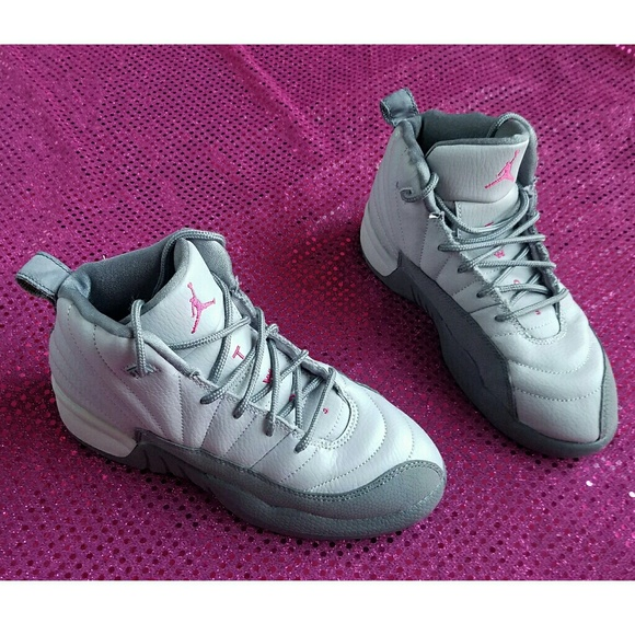 5426dc4bcfe87 Jordan Other - Girls Jordan 12 Retro wolf grey vivid pink