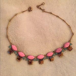 J.Crew Pink, Blue, & Gold Necklace