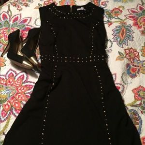 NY&C Little Black Dress with Gold Studs
