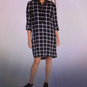 Old navy plaid pullover shirt dress