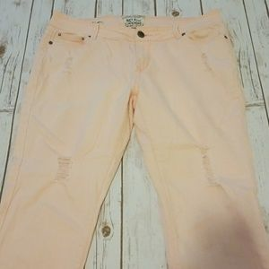 13 Light pink ripped skinny capris