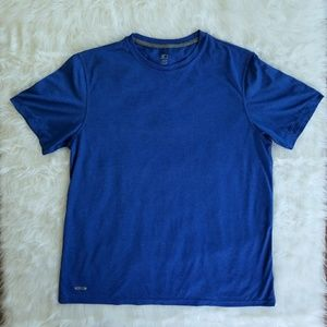 Mens large blue sports pullover tee