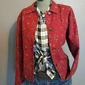 Vintage bandana jacket