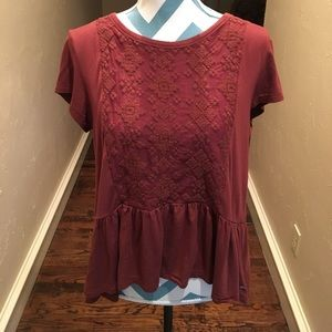 American eagle soft & sexy peplum top!