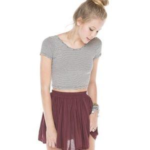 Rare Brandy Melville maroon skirt