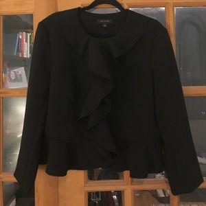 Black ruffle jacket