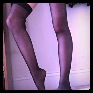 Accessories - Black Knee High Cotton Stockings