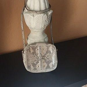 Michael Kors Angora Snake Print Cross Body Purse