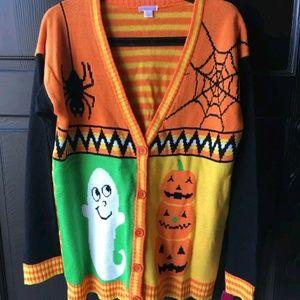 Womens Halloween Cardigan