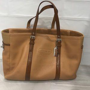 Coach Tan Leather Tote Bag
