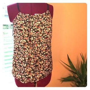 Women's GAP floral sleeveless blouse