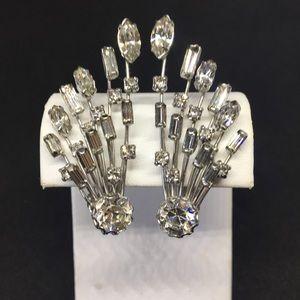 Weiss Crystal Fireworks Earrings