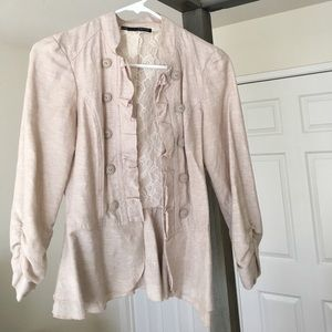 Jackets & Blazers - Maurices S Linen and Lace Military Blazer