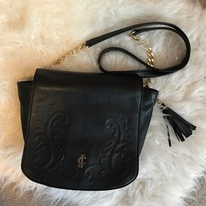 Juicy Couture Black Leather Crossbody Bag🖤