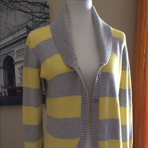 Converse Cardigan yellow gray sweater one star