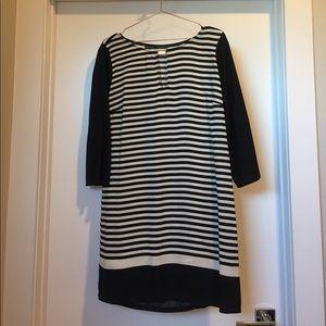 ZARA Striped Shift 3/4 Sleeve Dress 👗