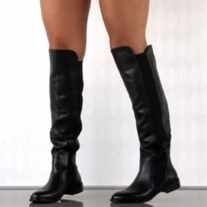 Report Black Basta Over Knee Boot