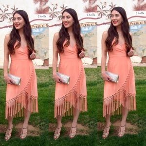 Dresses & Skirts - Peach / Coral Fringe Dress