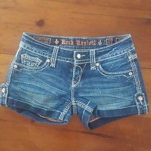 Rock revival designer shorts