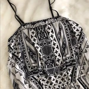 Filly Flair Patterned Romper, NWT!