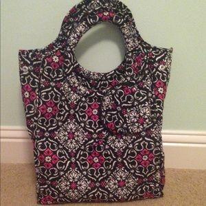 Pink and Black Travel Bag