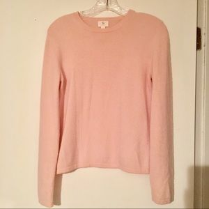 100% Cashmere Pink Sweater Size Medium