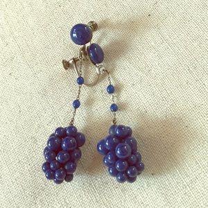 VTG 50s Grape Cluster Earrings