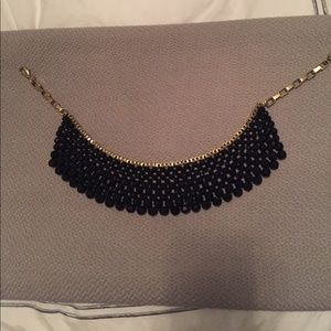 Banana Republic black and gold statement necklace