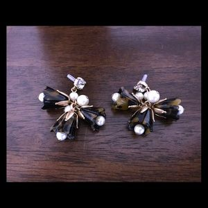 J.Crew Tortoise and Pearl Earrings