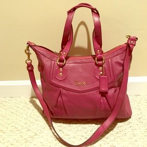 Coach (Hot Pink) Leather Purse