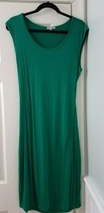 Green dress with back cutout