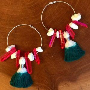Sahil Festival Earrings - tassels, crystals, hoops