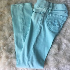 Lily Pulitzer straight leg jeans. Size 00.