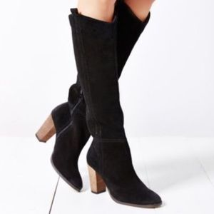 Dolce Vita Myste Knee High Black Suede Boots