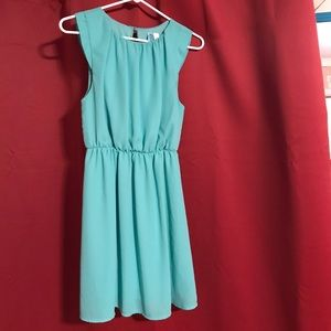 Teal sleeveless semi formal dress Small